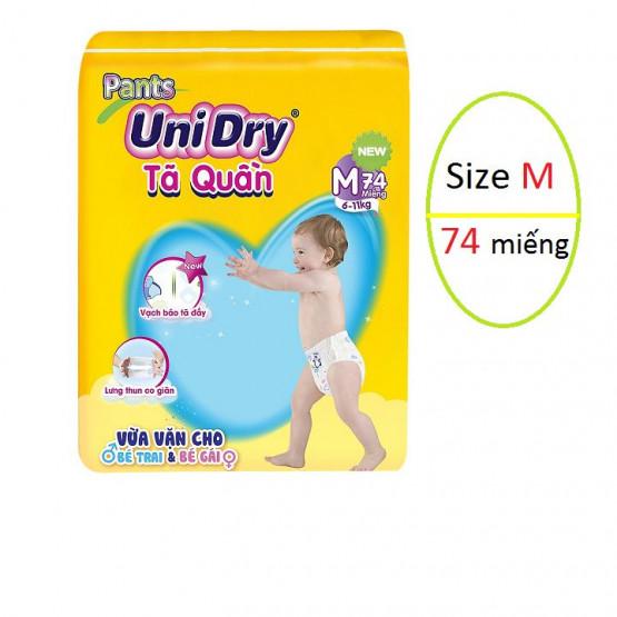 Tã Quần Unidry Pants giảm 43% trên Shopee. Ngoài ra còn được mua kèm deal sốc Combo 6 gói khăn ướt UNIFRESH 100x24 Vitamin E cho bé (100 tờ/gói) với giá chỉ 89.000.