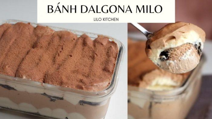 Cách làm bánh Dalgona Milo dễ không ngờ, ngon không tưởng