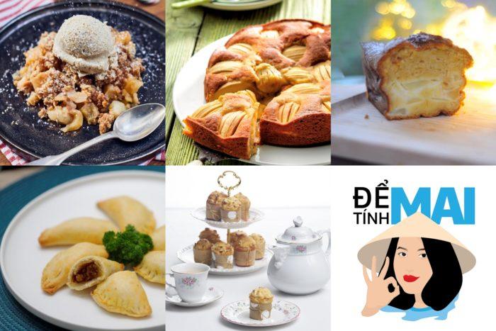 5 công thức bánh táo chuẩn nhà hàng Âu ngon tuyệt