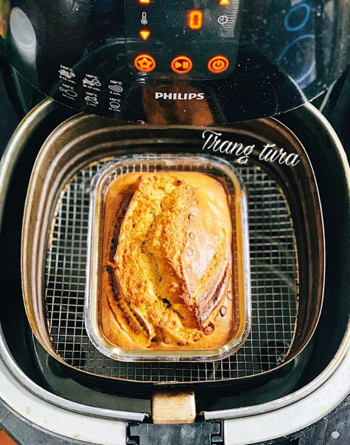 """Cách làm bánh chuối """"thần thánh"""" bằng nồi chiên không dầu"""