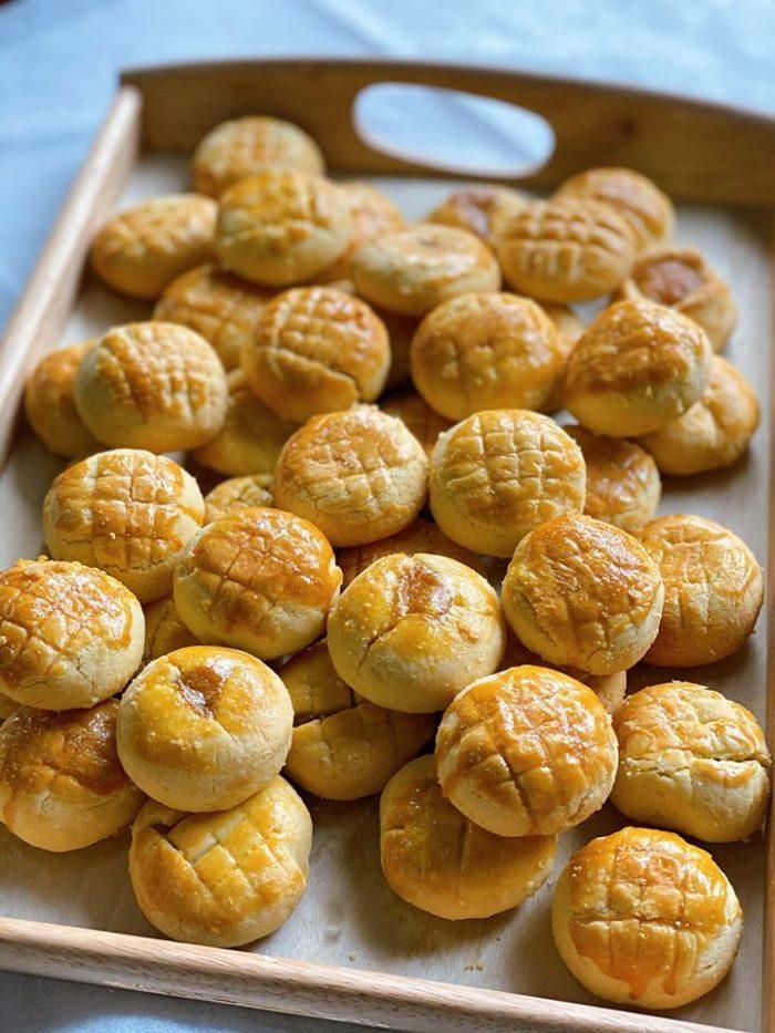 Công thức bánh dứa Đài Loan cực ngon cực chất bằng nồi chiên không dầu