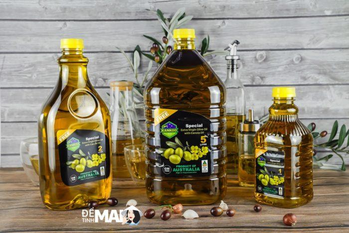 Mẫu dùng thử: Dầu Oliu hạt cải chiên xào Kankoo nhập khẩu Úc, size 1 lít