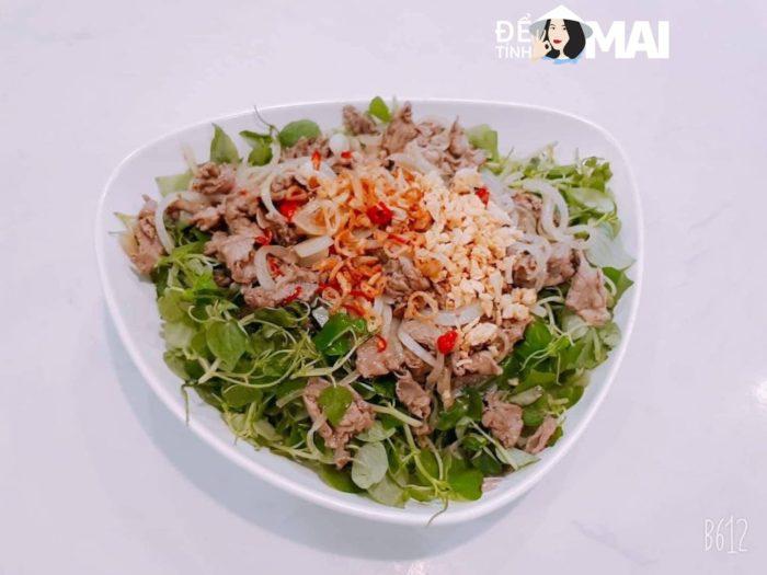 Salad Bò, Rau Càng Cua