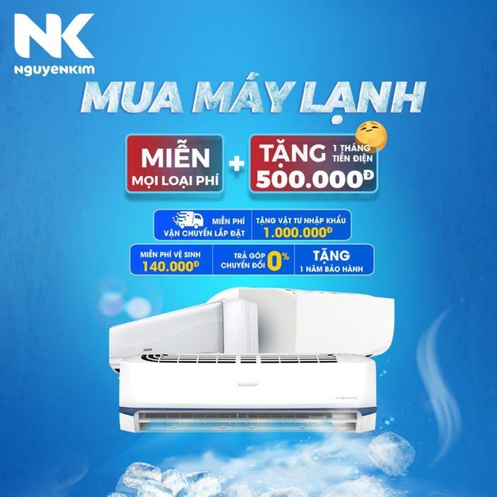 Nguyễn Kim đang áp dụng ưu đãi hấp dẫn cho khách hàng mua máy lạnh hè 2020.
