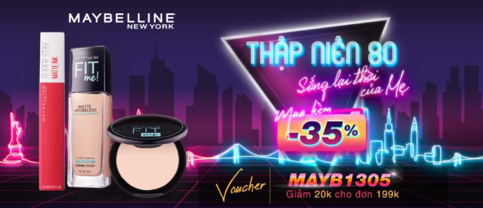 Mỹ phẩm Maybelline chính hãng sale lớn trên Shopee