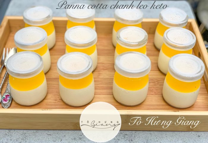 panna cotta chanh leo che do keto