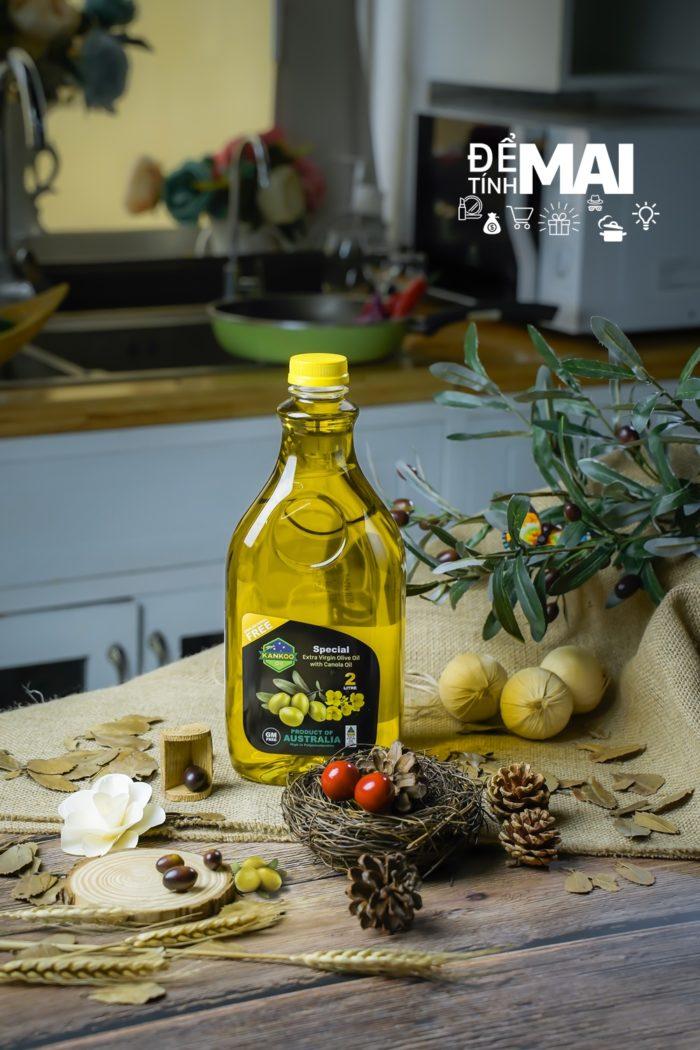 Kankoo - Dầu oliu hạt cải dành cho chiên xào giá tốt nhất hôm nay