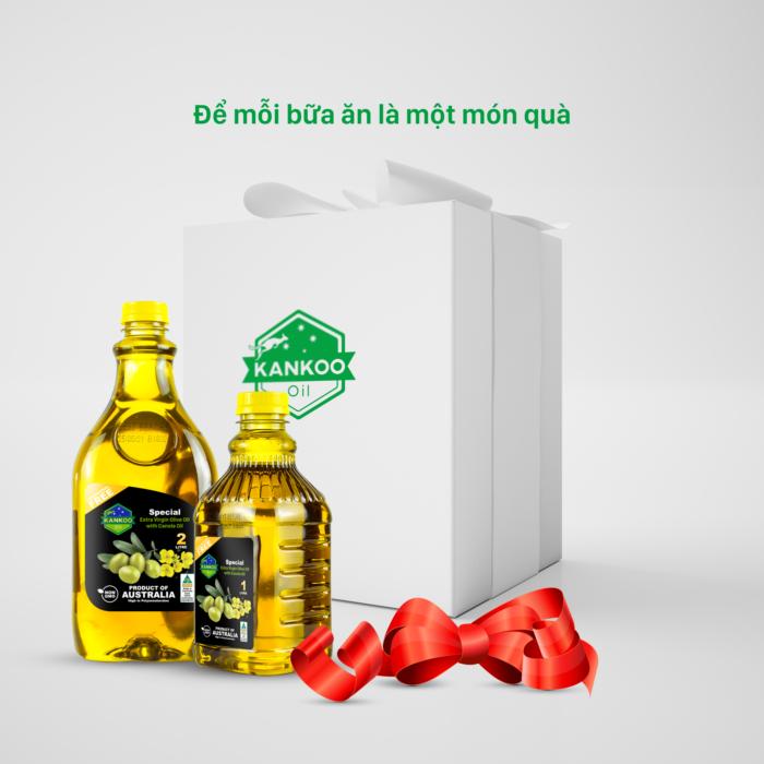 Dầu ăn Kankoo Olive hạt cải nhập khẩu Úc