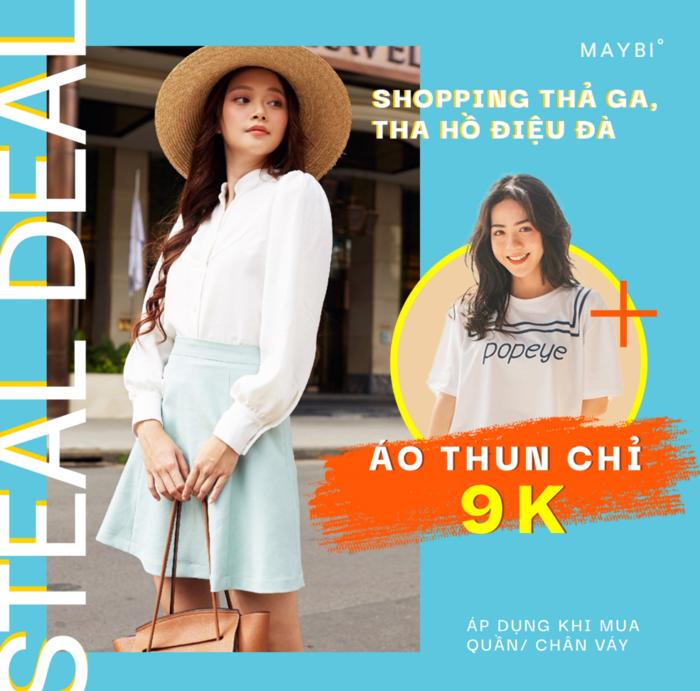 Thời trang Maybe: Deal áo thun giá chỉ 9k
