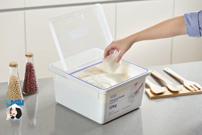 Mua thùng đựng gạo Sendai 12kg - Hàng chính hãng Inochi giá tốt nhất hôm nay