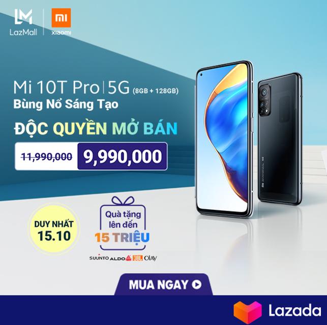 [LAZADA] Launching Xiaomi M10T PRO sẽ diễn ra vào 0H khuya nay 15/10
