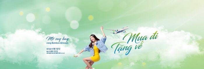Bamboo Airways: Mua vé chiều đi, tặng vé chiều về