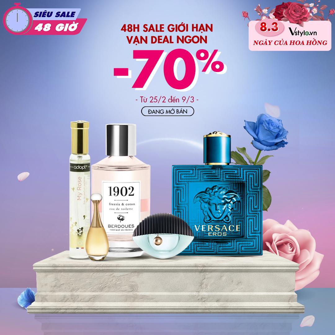Deal giảm giá mỹ phẩm chính hãng siêu sốc trên Vstyle 8/3