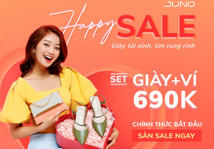 Thời trang Juno tung deal hot: Happy Sale -Giày túi xinh tim rung rinh