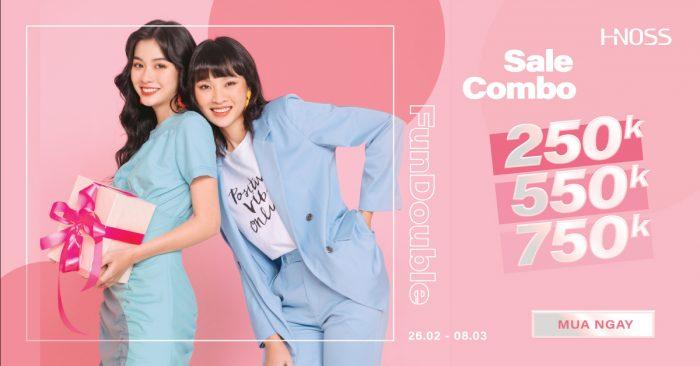 Thời trang Hnoss tung chiêu deal sale combo 2 sản phẩm  250K - 550K - 750K