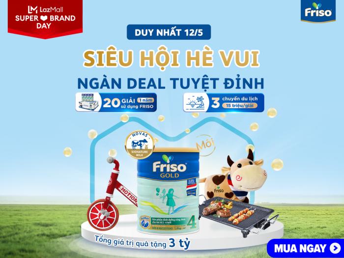 Ngày hội thương hiệu Friso: Deal hot độc quyền trên Lazada