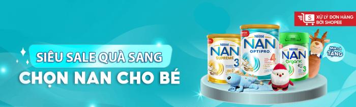 Dinh dưỡng Nestlé chính hãng - Nestles Nan giảm đến 35% toàn bộ sản phẩm sữa cho bé