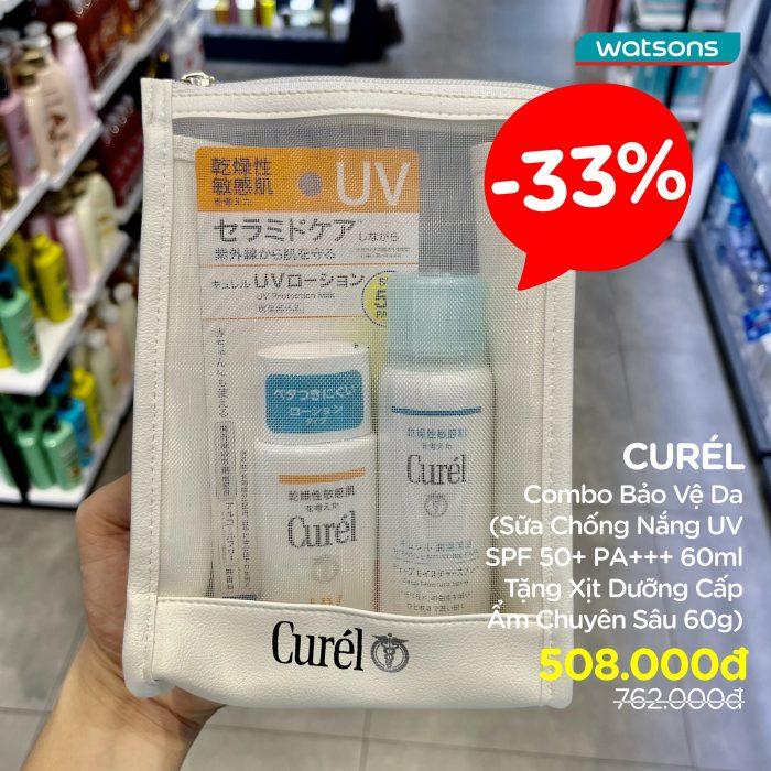 Watson giảm đến 32% các sản phẩm best seller của Curél