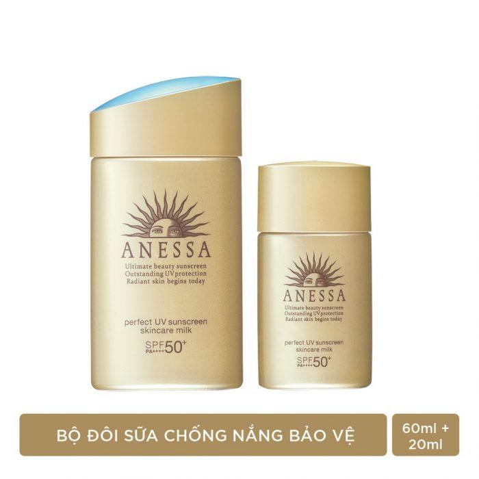 Bộ đôi chống nắng Anessa Perfect UV Sunscreen Skincare Milk giảm 27%