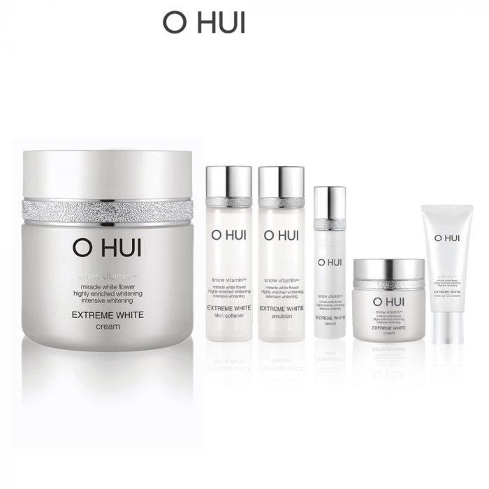 Bộ dưỡng trắng da sáng rạng rỡ OHUI Extreme White Cream Special Set giảm giá 30%