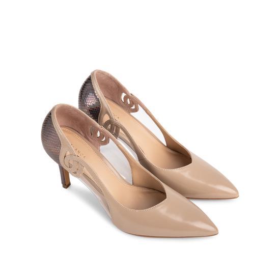 Giày cao gót Sablanca mũi nhọn phối nhựa trong suốt BN0108 giảm 40%