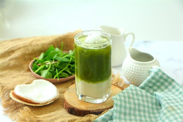 Sinh tố bột rau má + đậu xanh