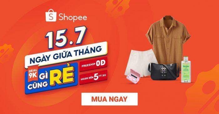 Các deal hot sản phẩm ngành hàng đời sống trên Shopee 15.7 - Giữa tháng mua gì cũng rẻ