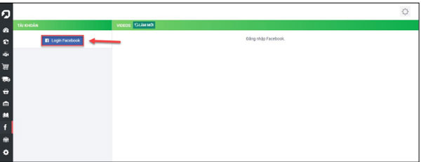 Trên phần mềm Upos đăng nhập vào tài khoản của bạn