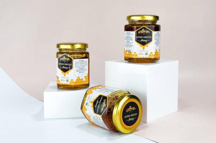 Mật ong Saffron Đông trùng hạ thảo Cordyceps Premium